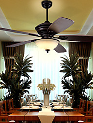 Mediterranean Europe Type Fan Light Simple Dining-Room Sitting Room Led Light  Bedroom Ceiling Fans