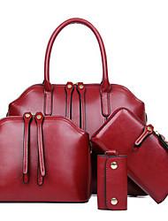 Women PU Casual / Outdoor Tote / Bag Sets Brown / Black / Burgundy