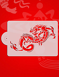 Chinese Style Dragon Cookie Stencil,Cupcake Decorating Tools,Fondant Decorating Stencil,Cake Decorating Supplies ST-3125