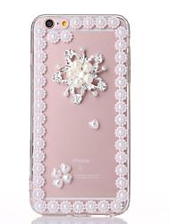 perle 4 TPU + affaire pc transparent pour iphone6,6s
