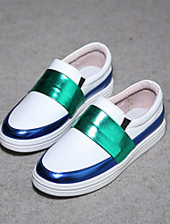 Girl's Loafers & Slip-Ons Spring / Summer / Fall Comfort Leather Outdoor / Casual / Athletic Sequin Black / White
