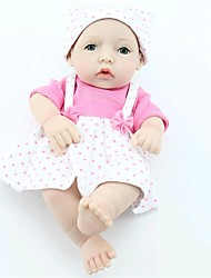 NPKDOLL Reborn Baby Doll Hard Silicone 11inch 28cm Waterproof Toy Strap Dress Pink Girl