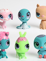 20pcs/Set Original Littlest Pet Shop Figures Can Rotate Pet Shop Dolls Toys With LPS Logo Gifts For Children