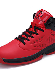 Men's Shoes Leather / Synthetic Sneakers Basketball  Black / Red / White