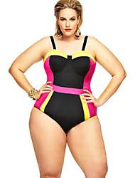 Women's  Colorblock Plus Size Swimsuit