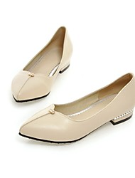 Women's Shoes Leatherette Low Heel Comfort / Pointed Toe Flats Outdoor / Office & Career