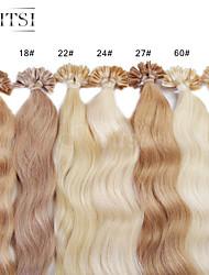 """neitsi 20 """"punta de 1g / s queratina 50g u fusión uñas weavy extensiones de cabello humano"""