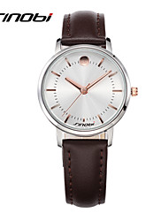 Women's Fashion Watch Casual Watch Quartz Water Resistant / Water Proof Leather Band Brown Brand SINOBI