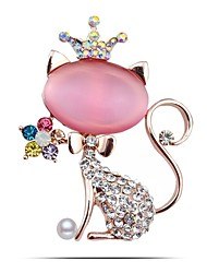Colorful Rhinestone Cat Brooch Pin Fine Jewelry Best Bridal Broaches Korean Jewellery Excelente Christmas Broches