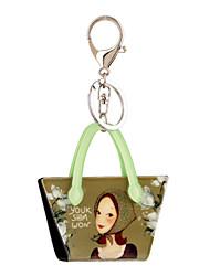 2016 sleutelhangers cartoon mooi meisje printing sieraden handtas auto sleutelhanger vrouwen houder sleutelhanger groothandel
