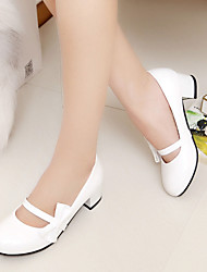 Women's Shoes Heel Heels / Round Toe Heels Office & Career / Dress / Casual Black / Blue / Pink / White9367-1