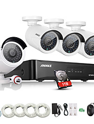 Annke® 4CH HDMI NVR PoE Kit Outdoor 960P CCTV Security Camera System IP Network with 1TB