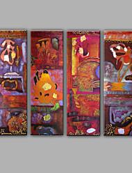 Ручная роспись фантазия Горизонтальная,Средиземноморье 4 панели ХолстУкрашение дома