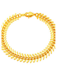 Gold Chain Stamp 18K Gold Plated Jewelry Wholesale New Fish Bone Foxtail Gold Beads Bracelets Unisex Jewelry B40064