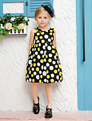 Girl's Multi-color Dress Cotton Summer / Spring / Fall