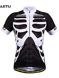 Bicicleta/Ciclismo Camiseta/Maillot / Tops Unisex Mangas cortasTranspirable / Secado rápido / Materiales Ligeros / Bandas Reflectantes /