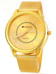 JUBAOLI Мужской Наручные часы Повседневные часы Кварцевый Нержавеющая сталь Группа Золотистый