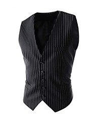 Men's Casual Striped Single-Breasted Vest
