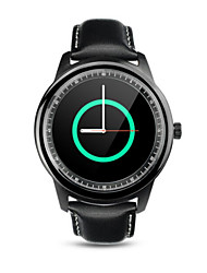 DM365 bluetooth intelligente orologio IPS Full HD schermo genuino SmartWatch pelle writstrap per iOS di Apple Samsung Android Phone