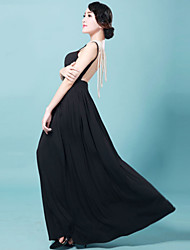 The thin backless condole belt long dress female temperament