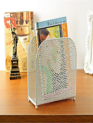 Multifunctional File Holder Iron File Storage Basket e Box
