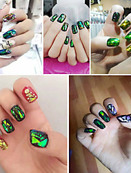 Korea Nail Flash Color Symphony Irregular Glass Pieces Nail Art Stickers Decorative Design foil Pure Color