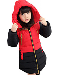 Girl's Blue / Red / Yellow Down & Cotton Padded,Solid Polyester Winter