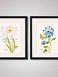 Абстракция / Пейзаж / Цветочные мотивы/ботанический Отпечаток в раме / Холст в раме / Набор в раме Wall Art,ПВХ ЧерныйКоврик входит в