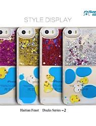 sanlead haitian série de fête canards ~ 2 pc avec de la poudre et fond liquide pour iphone5,5s (couleurs assorties)