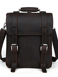 Men's Genuine Leather Backpack Hiking Travel Bag