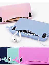 caso encantador de silicona lindo ballena suave para el iphone 4 / 4s