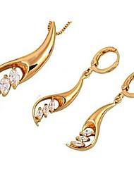 Jewelry Set Elegant True Love Pendant Necklace Earring Gift for Bride