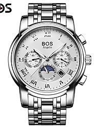 BOS The Mechanical Watch Stainless Steel Automatic Mens Fashion Watch Men Waterproof Multifunction Watch