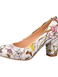 Zapatos de mujer - Tacón Robusto - Tacones - Tacones - Oficina y Trabajo / Vestido / Casual - Semicuero - Azul / Amarillo / Rojo / Blanco