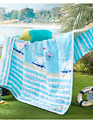 The Home Of Sailing High-end 100% Cotton Air Conditioning Quilt summer Cool Quilt Full/Queen Size