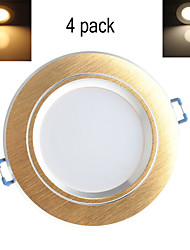XYT® 4pcs LUO-10-04 10W 800LM 3000-6000K 20x5730 SMD LEDs Warm White Color Ceiling (AC 85-265V)