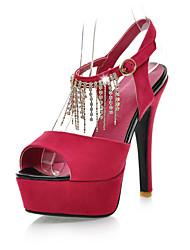 Women's Wedding Shoes Peep Toe / Platform Sandals Wedding / Party & Evening / Dress Black / Blue / Red