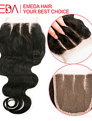 8''-20''Brazilian Body Wave Closure Free Part Middle Part 3 Part Brazilian Bleached Knots Human Hair Lace Closure