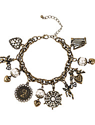 Fashion Women Vintage Multi Charm Bracelet