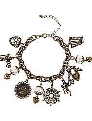 Fashion Women Vintage Multi Charm Bracelet