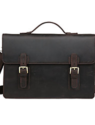 Men Cowhide Formal / Casual / Office & Career Shoulder Bag / Tote / Laptop Bag - Brown