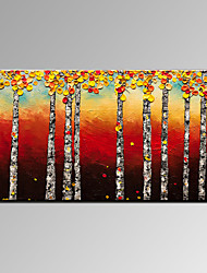 VISUAL STAR®Modern Birch Tree Handmade Oil Painting Abstract Forest Canvas Art Ready to Hang