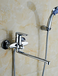 Wall Mounted Bathroom Faucet of Solid Brass Body Chrome Finished Surface Bathtub&shower Faucet K1751