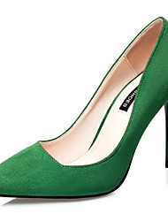 Women's Shoes Velvet Stiletto Heel Heels Heels Wedding / Dress Black / Green / Pink / Gray / Burgundy