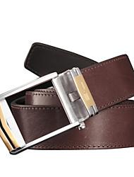 SL Men Belts Vintage Genuine Leather Unique Design Top Layer Cowhide Business Waist Belt with Steel Automatic Buckle
