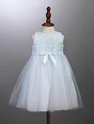 Vestido Chica de - Todas las Temporadas - Algodón - Blanco