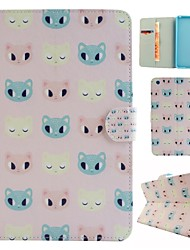 Cartoon Cat Coloured Drawing or Pattern PU Leather Folio Case Tablet Holster for iPad Mini4  Mini3/2/1