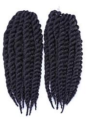 African Black Hair Hand Rub Torsional Braid Rope Twist Braid is Black 1pcs
