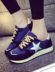 Zapatos Running Algodón Negro / Azul Mujer / Para Niña