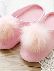 Women's Shoes Fabric Flat Heel Slippers Slippers Casual Pink